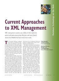 Current Approaches to XML Management - It works!