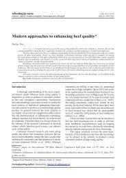 Modern approaches to enhancing beef quality* - Institut za higijenu i ...