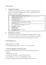 1 Lösungsvorschlag A. Zulässigkeit des Einspruchs Im Rahmen der ...