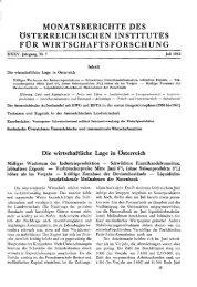 Die wirtschaftliche Lage in Österreich - Wifo