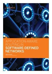 Application-Aware Routing in Software-Defined Networks - Aricent