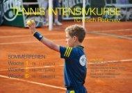 TENNIS INTENSIVKURSE - Tennisclub Risch-Rotkreuz