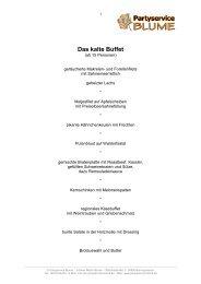 Kaltes Buffet - Partyservice Blume