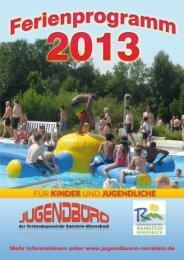 Ferienprogramm der VG Ramstein-Miesenbach - Jugendbüro ...