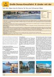 Große Donau-Kreuzfahrt: 8 Länder mit der