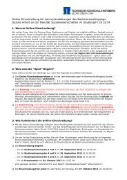 Online-Einschreibung für Lehrveranstaltungen des ...
