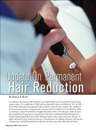 Update On Permanent Hair Reduction - MedEsthetics