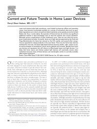 Current and Future Trends in Home Laser Devices