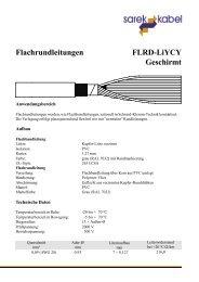 Flachrundleitungen FLRD-LiYCY Geschirmt