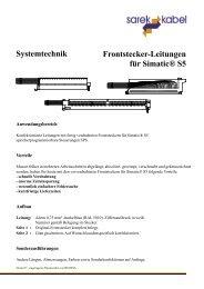 Frontstecker-Leitungen für Simatic® S5 Systemtechnik
