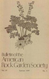 Bulletin - Summer 1979 - North American Rock Garden Society