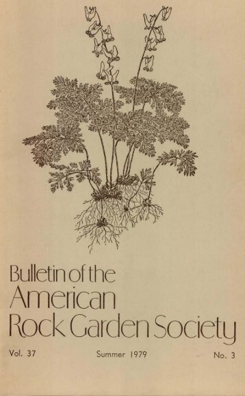 Bulletin - Summer 1979 - North American Rock Garden Society