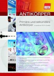 AntikörperPrimäre und sekundäre Antikörper für ... - Carl Roth