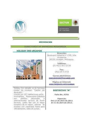 Empresas M Michoacan - Sectur