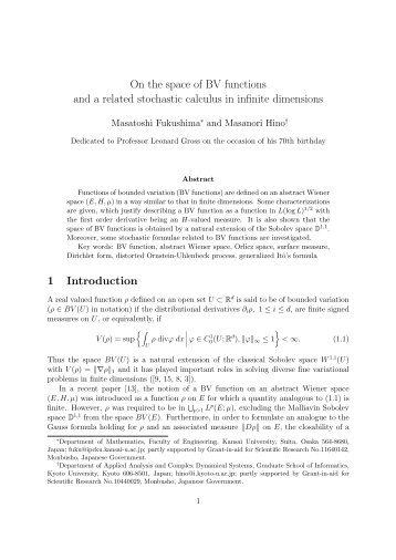 On the space of BV functions and a related stochastic calculus in ...