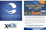 2013 GRC Summer Tennis Camp Brochure - Glenbrook Racquet Club