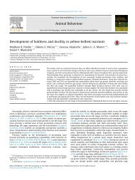 Development of boldness and docility in yellow-bellied marmots