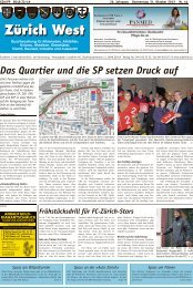 Das Quartier und die SP setzen Druck auf - Lokalinfo AG