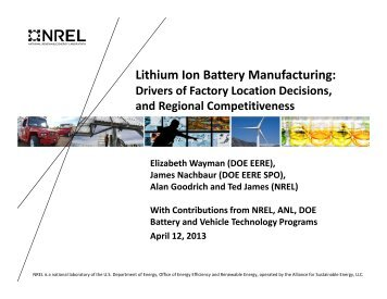 Lithium Ion Battery Manufacturing: - National Alliance for Advanced ...