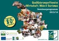 Seminarprogramm 2013/14 - LEADER Region Weinviertel ...