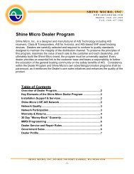 Download the Shine Micro Dealer Program Overview and Application