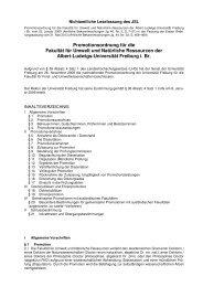 Promotionsordnung Fakultät für Umwelt und Natürliche Ressourcen ...