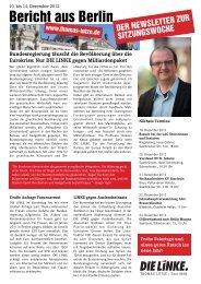 Bericht aus Berlin - Thomas Lutze