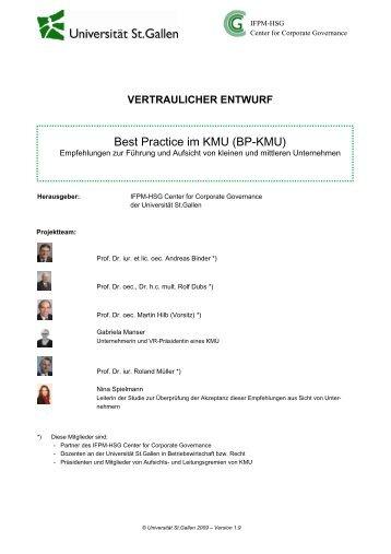 Best Practice im KMU (BP-KMU)