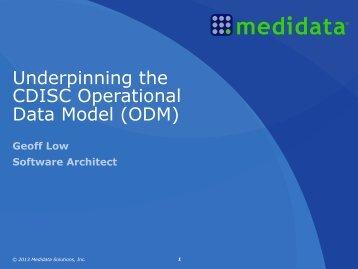 Underpinning the CDISC Operational Data Model ... - PhUSE Wiki