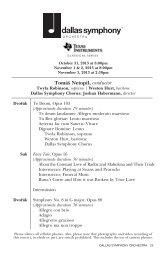 Download the PDF - Dallas Symphony Orchestra