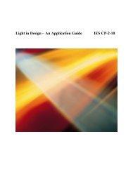 Light in Design - Illuminating Engineering Society