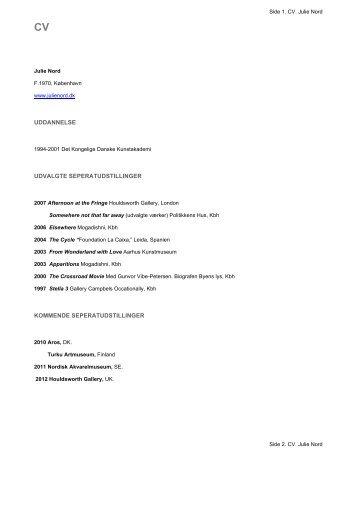 Download CV - Julie Nord