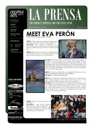 meet eva perón - Creative Arts Group eV