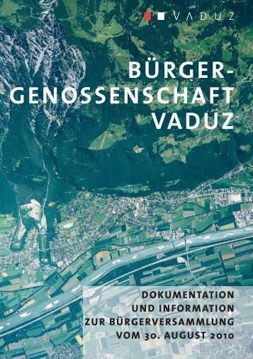 Download Broschüre - Bürgergenossenschaft Vaduz
