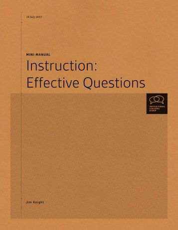 Effective Questions - Instructional Coaching Group
