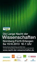 Wissenschaften - Friedrich-Alexander-Universität Erlangen-Nürnberg