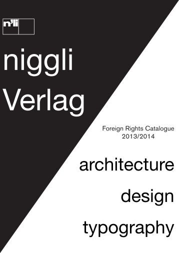 design typography architecture - Niggli Verlag