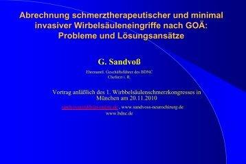 Abrechnung schmerztherapeutischer und minimal invasiver ...