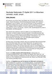 Sechster Nationaler IT-Gipfel 2011 in München vernetzt, mobil, smart