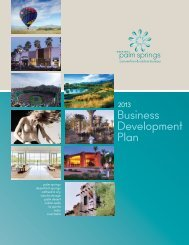 Business Development Plan - Greater Palm Springs Convention and ...