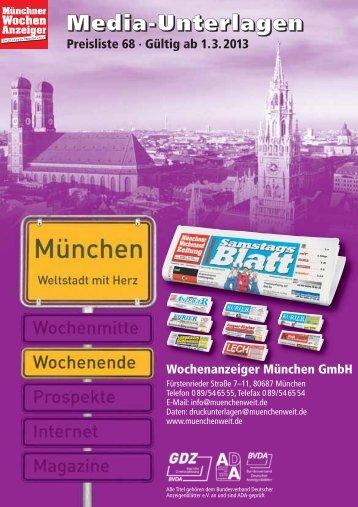 Wochenende - Wochenanzeiger München