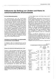 Indikatoren der Stellung von Ländern und Waren im ... - Wifo