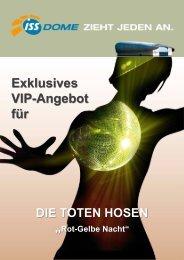Rot-Gelbe Nacht der Toten Hosen - VIP Angebote - ISS Dome