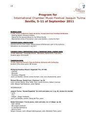 detailed program - iv festival internacional de música de cámara ...