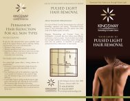 pulsed light hair removal - Kingsway Dermatology