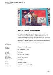 Werbung – wie wir verführt werden - WDR