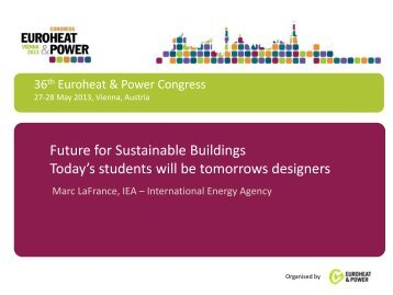 Future for Sustainable Buildings Today's students will be tomorrows ...