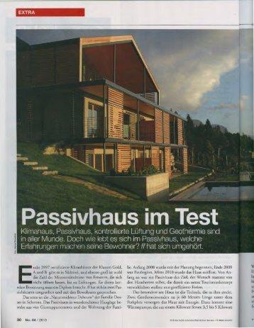 """17 / 01 / 2013 Naturresidence DAHOAM in der Zeitschrift """"FF"""""""