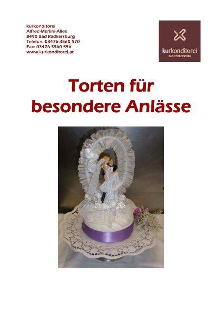 Torten für besondere Anlässe - Kurkonditorei Bad Radkersburg