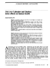 Jets over Labrador and Quebec:
